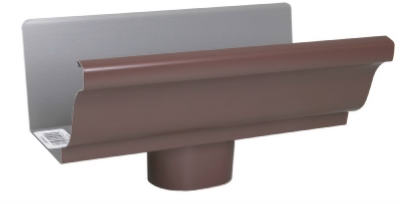 "Amerimax 2501019 Aluminum End Piece With Drop 5"", Brown at Sears.com"