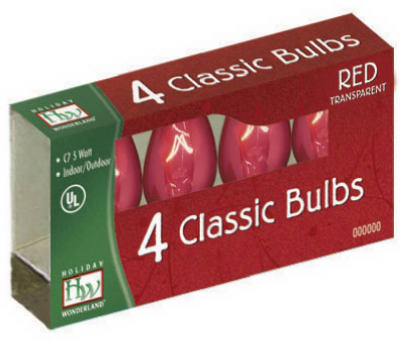 NOMA/INLITEN-IMPORT Candelabra Base Replacement Bulbs 120Volt Red at Sears.com