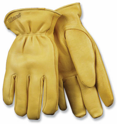 Kinco Men's Full Grain Deerskin Leather Glove, Medium, Golden