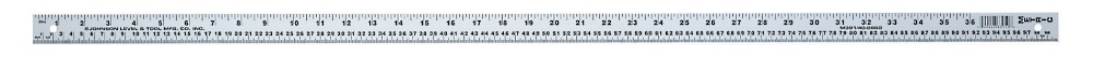 JOHNSON LEVEL & TOOL Aluminum English And Metric Meterstick 1/8 Silver at Sears.com