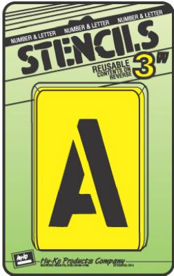 Hy-Ko ST-3 Letter & Number Stencil Set, 3