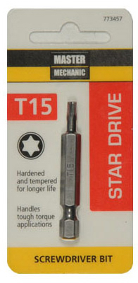 "Master Mechanic 773457 Torx 15 Screwdriver Bit, 2"" at Sears.com"