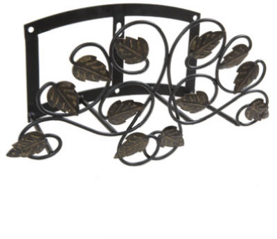 Panacea Scroll & Ivy Hose Hanger, Black with Brushed Bronze Leaves at Sears.com