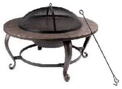 "Shinerich Industrial ""Four Seasons"" Round Wood Burning Fire Pit 35"" at Sears.com"