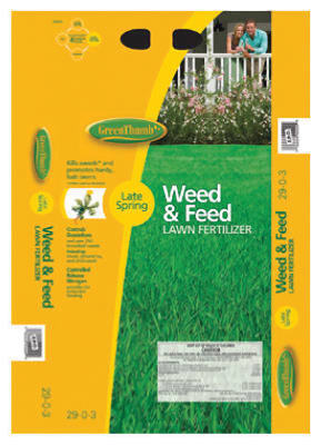 Green Thumb Premium Weed & Feed Lawn Fertilizer, 16 lb, 5,000 Sqft at Sears.com