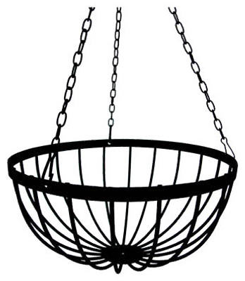 "Border Concepts 72252 Liberty Hanging Basket, 14"", Black"