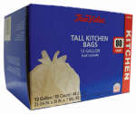 "True Value ""True Value"" 80-Count Tall Kitchen Trash Bag, 13 Gallon at Sears.com"
