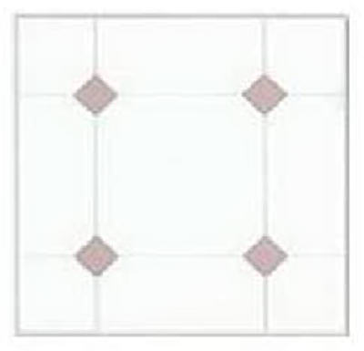 Max KD0307 Peel & Stick Vinyl Floor Tile, 12'' x 12'', Taupe & White