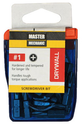 "Master Mechanic 129288 Drywall Screwdriver Bit 1"", 25-Pack at Sears.com"