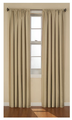 Eclipse Gum Kendall Thermaback 2-Way Slub Fabric Curtain 42