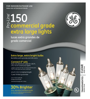 General Electric GE80426 Clear String Set 8mm, 150 Count at Sears.com