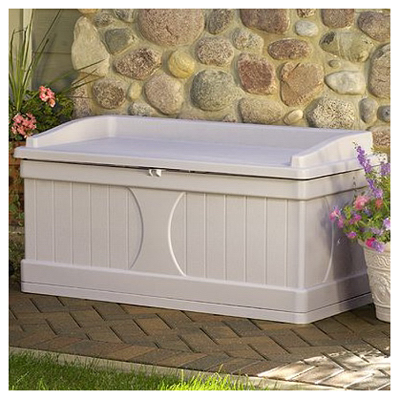 Suncast DB9500 Light Taupe Deck Storage Box, 99 Gallon at Sears.com