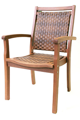 Copenhagen 21090R Resin Wicker & Eucalyptus Arm Chair at Sears.com