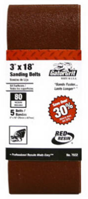"GatorGrit 7032-003 Master Mechanic Sanding Belt 3"" x 18"", Pack/5 at Sears.com"