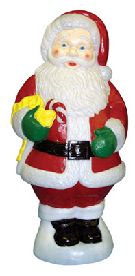 "General Foam C5280TS Santa Holding Candy Cane, 31"""
