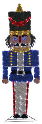 """Neo Neon 2-D Fabric Nutcracker with Multi Color LED Tube Light, 48"""" at Sears.com"""