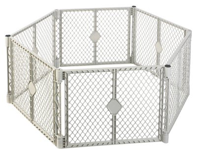 North States 8666 Superyard Classic Plastic Play Yard Gate, 6 Panel at Sears.com