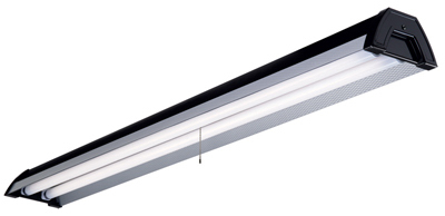 METALUX Two Lamp T8 Fluorescent Shop Light 4', Black at Sears.com
