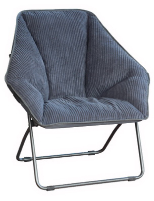 Zenithen IC576S-TV06 Comfortable Hexagon Folding Dish Chair, Gray at Sears.com