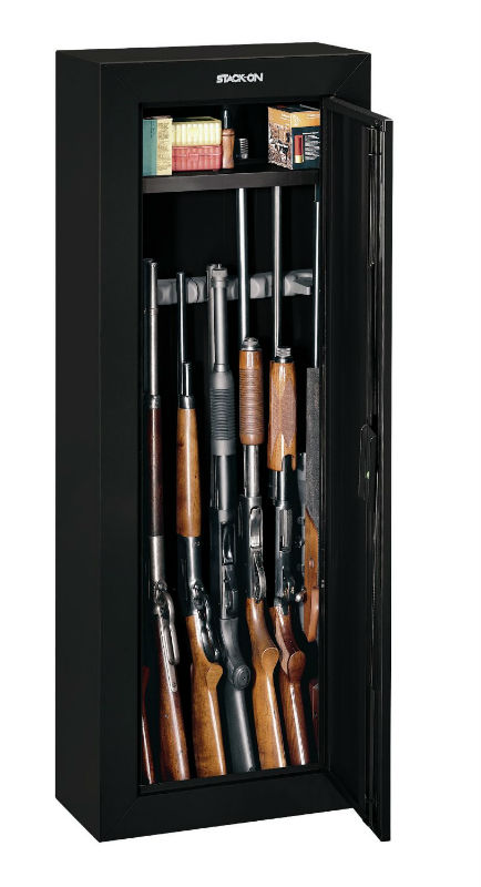 Stack-On GCB-908 Steel Security Cabinet, Black, Holds 8-Gun at Sears.com