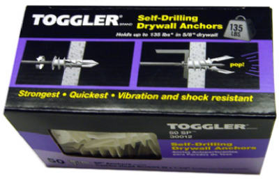 "Toggler ""Toggler Snapskru"" SP Drywall Anchor 3/8""-5/8"" (Pack/50) at Sears.com"