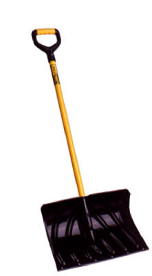 "Suncast SCF2950 Industrial Grade Poly Shovel/Pusher 20"", Black at Sears.com"